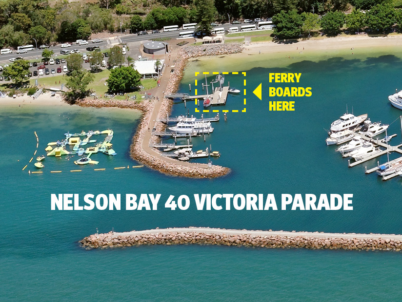 LOCATION MAP FOR JAN02 - Ferry Tea Gardens To Nelson Bay
